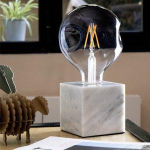 چراغ رومیزی دکوراتیو بالب لندن مدل MARBLE DESK LAMP WHITE
