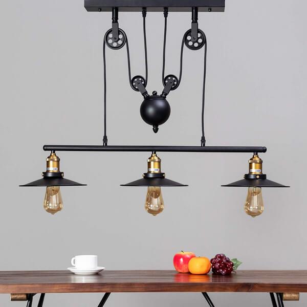 چراغ آویز بالب لندن مدل REELS PENDANT 3E27 BLACK