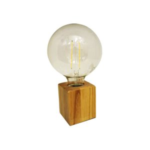 چراغ رومیزی بالب لندن مدل WOODEN DESK LAMP SQUARE