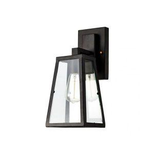 چراغ دیواری بالب لندن مدل GLASS AND METAL PYRAMID WALLMOUNT