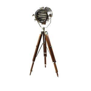 چراغ سه پایه بالب لندن مدل LARGE TRIPOD CHROME DOUBLE DAMPER