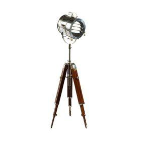 چراغ سه پایه دکوراتیو بالب لندن مدل LARGE TRIPOD CHROME SINGLE DAMPER