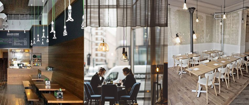 طراحی کافه و رستوران,کافه,لامپ plumen 003,