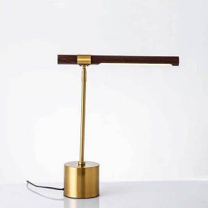 چراغ رومیزی بالب لندن مدل METAL AND WOOD DESK LAMP