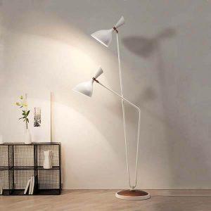 آباژور ایستاده بالب لندن مدل METAL TWIN FLOOR LAMP