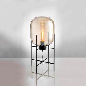 چراغ رومیزی بالب لندن مدل MEDIUM METAL AND GLASS ROCKET