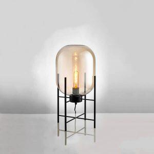 چراغ رومیزی بالب لندن مدل SMALL METAL AND GLASS ROCKET
