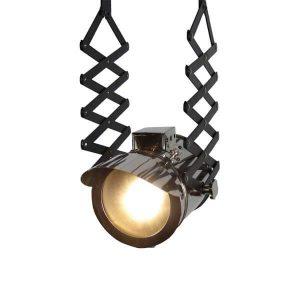چراغ آویز بالب لندن مدل SMALL ADJUSTABLE PENDANT CHROME LIGHT