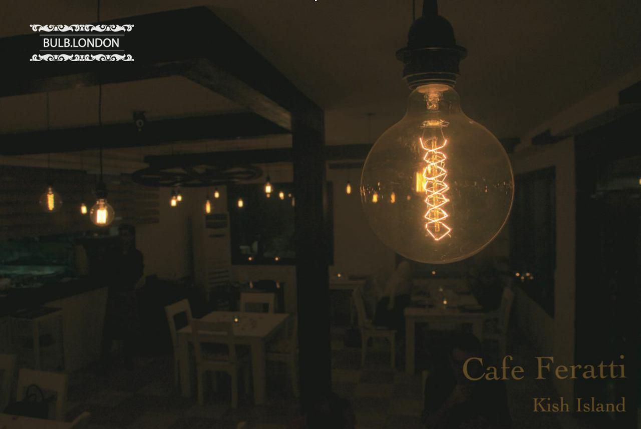 پروژه نورپردازی کافه فراتی در کیش