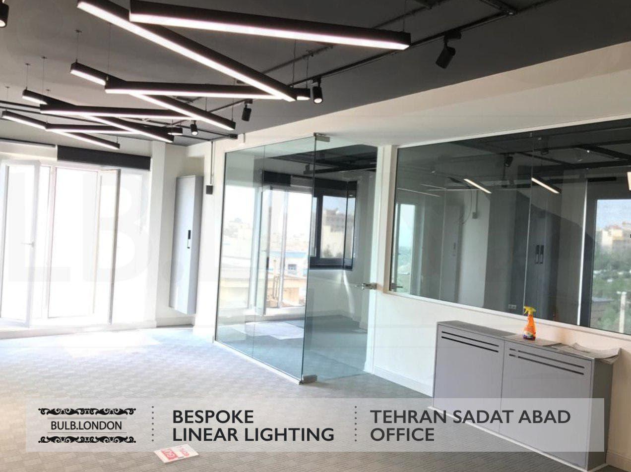 پروژه نورپردازی اداری در سعادت آباد