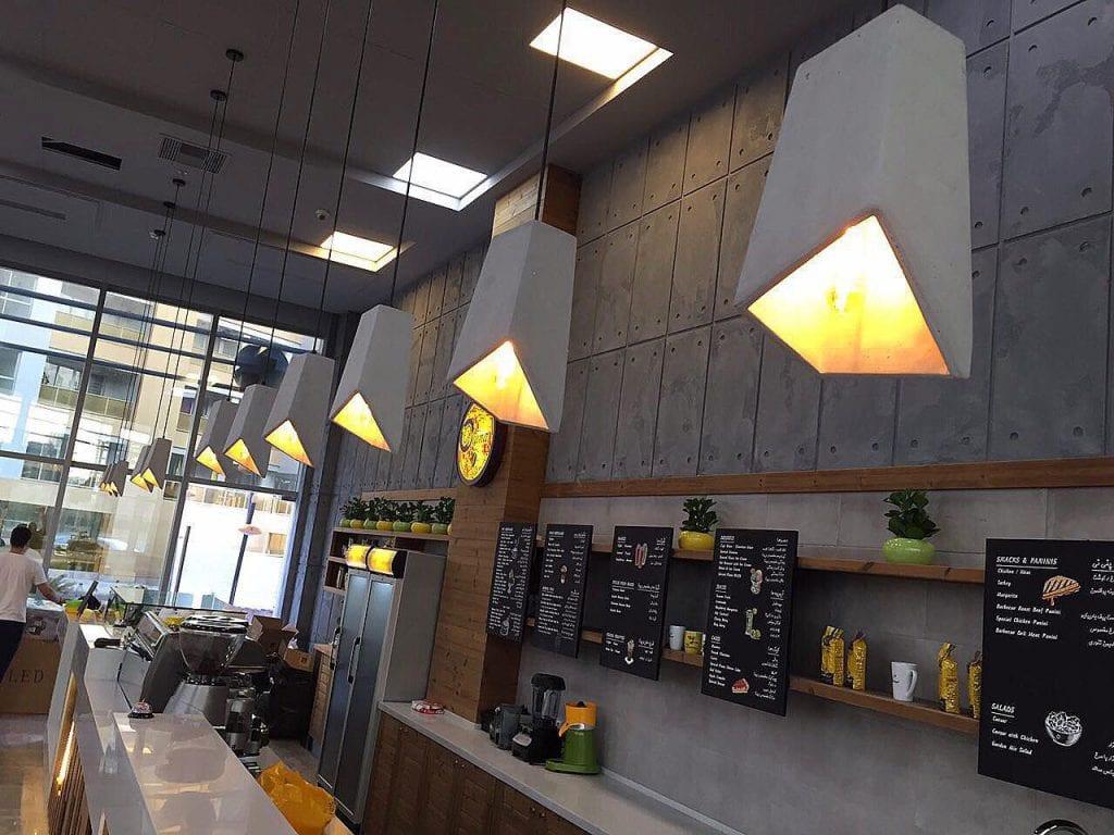پروژه نورپردازی کافه ویونا در کیش